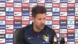 """Simeone: """"Ha sido uno de los partidos más regulares en juego"""""""