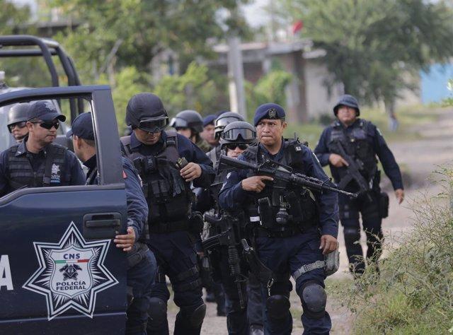 Policías federales en mexico