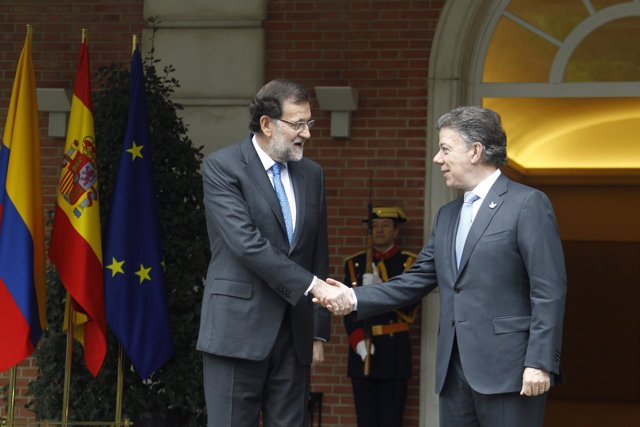 Mariano Rajoy y Juan Manuel Santos