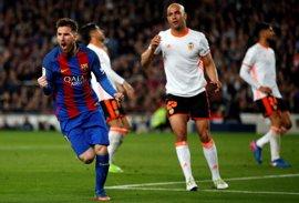 La MSN tira del Barça ante un buen Valencia