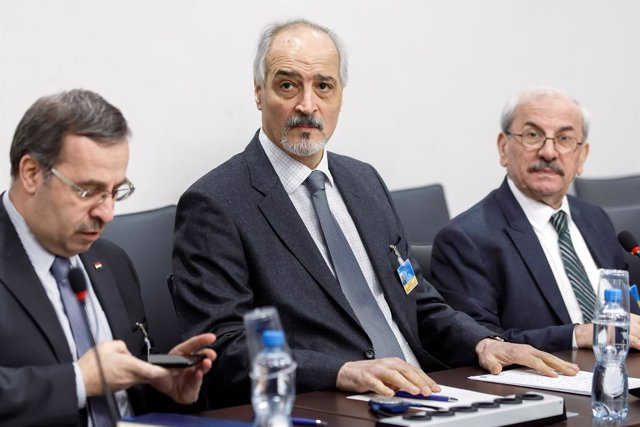 Bashar al Jaafari, el jefe negociador del régimen sirio
