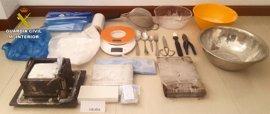 Desarticulado un laboratorio en Valdepeñas donde había 4.400 gramos de cocaína