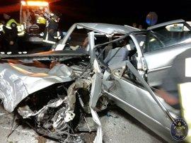 Cuatro personas fallecen en las carreteras este fin de semana y cuatro resultan heridas