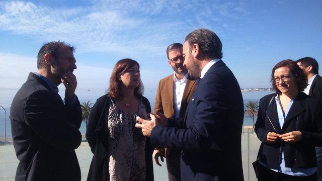 Armengol y Barceló en visita al Palacio de Congresos de Palma