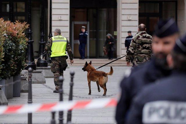Amenaza de bomba en la sede de la  Fiscalía Financiera, en París
