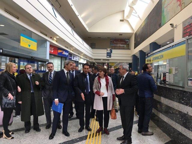 Visita a las mejoras en la estación de autobuses de Oviedo