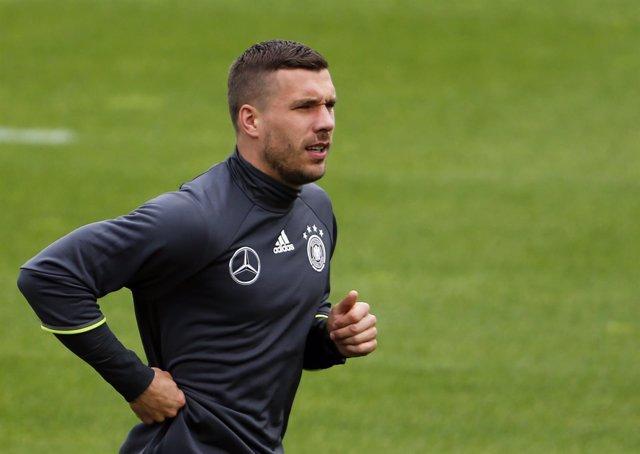 Lukas Podolski con Alemania