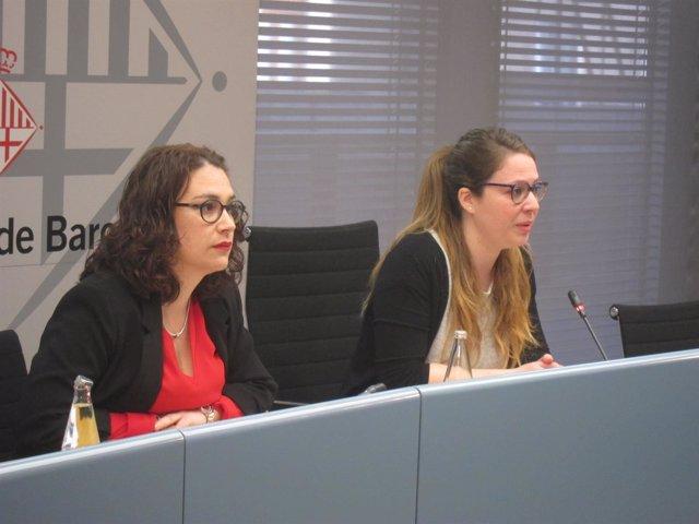 La teniente de alcalde Janet Sanz y la concejal Laura Pérez