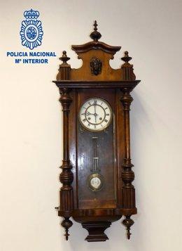 Imagen del reloj recuperado