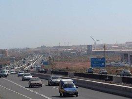 Detenido un motorista por circular a 205 km/h por la Autopista del sur de Gran Canaria