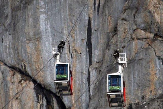 Teleférico Fuente Dé. Telecabinas teleférico. Liébana. Picos de Europa. Turismo.