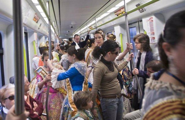 Metrovalencia en Fallas
