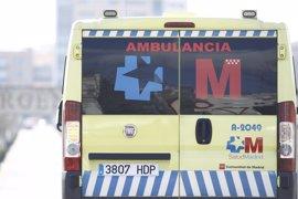 Herido muy grave un motorista de 26 años tras salirse de la vía y golpearse contra la cuneta en la M-512