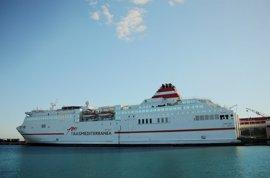 Trasmediterránea incorporará un buque de alta velocidad entre Málaga y Melilla en Semana Santa