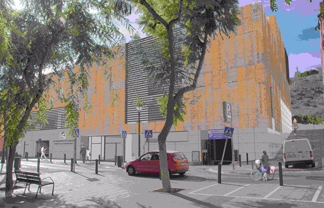 Boceto de la nueva sede de Urbanismo