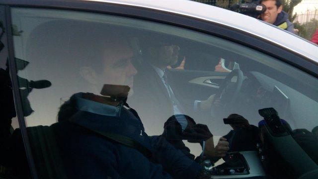 Miguel López sale de la prisión de Fontcalent (Alicante)