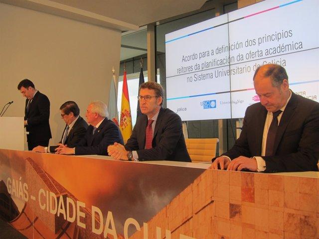 Firma do acordo dos criterios da reforma de titulacións do SUG