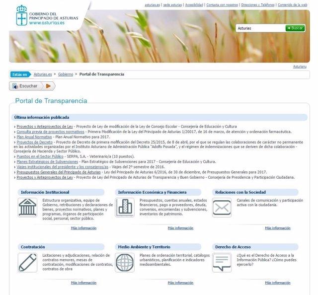 Portal de transparencia de Asturias