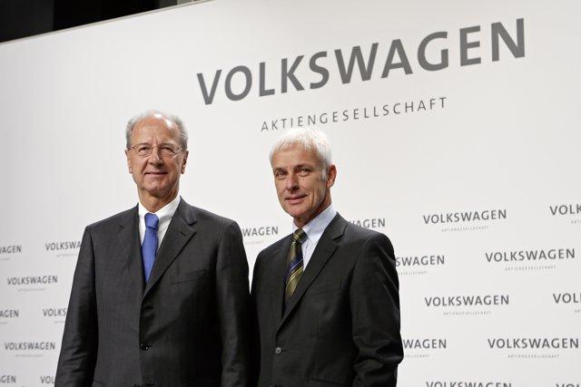 Hans Dieter Pötsch y Matthias Müller