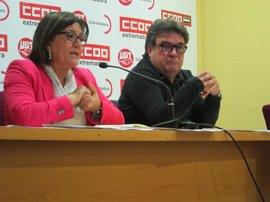 """CCOO y UGT convocan un paro de 10 minutos en el trabajo este jueves para pedir """"mejoras"""" laborales en Extremadura"""