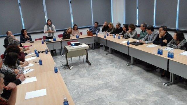 La consejera de Sanidad en la reunión