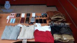 Detenidas cuatro mujeres pertenecientes a un grupo itinerante especializado en hurtos en comercios