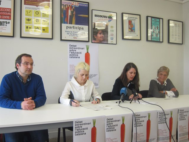 V.Casas, B.Tascón, C.Bayo y R.Cañadell, en rueda de prensa jornada educativa