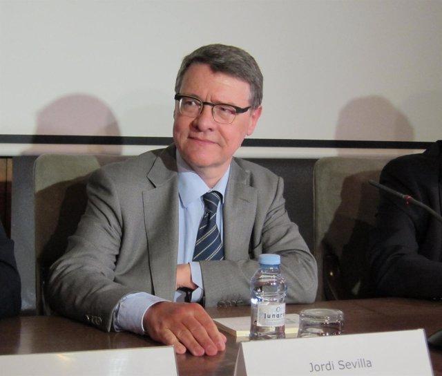 El coordinador económico del PSOE, Jordi Sevilla