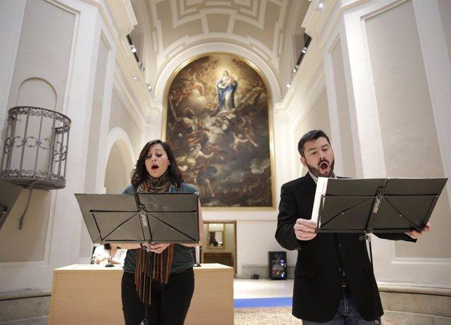 Intérpretes de Gradualia en la presentación del programa de música sacra