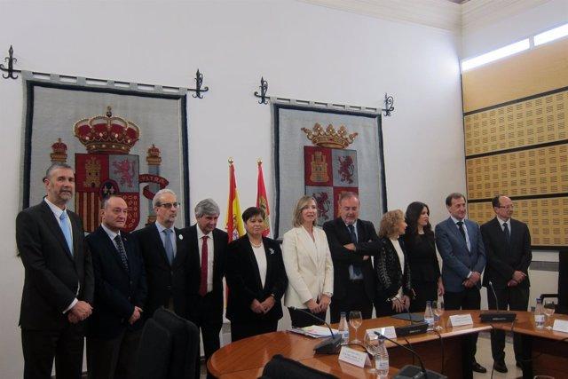Valladolid. García y Rey con los rectores de CyL