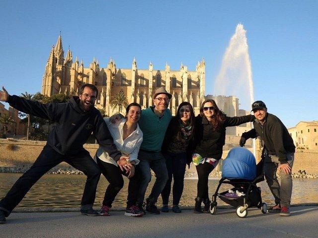 Grupo de blogueros 'Outtripers' en Palma