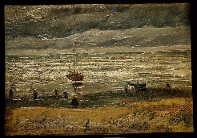 Vista de la playa en Scheveningen