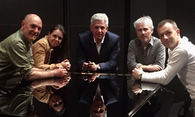 A. Egaña, A. Garmendia, G. Ormazabal, J. Reparaz y G. Mendizabal.