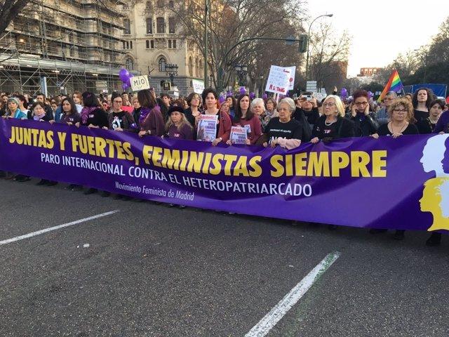 Manifestación Día de la Mujer en Madrid