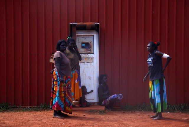 Comunidad aborigen en Australia.