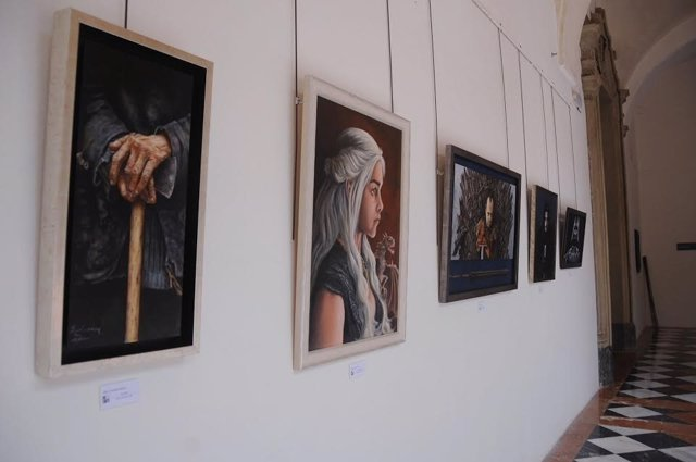 Algunas de las obras expuestas
