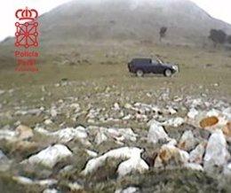 La Policía Foral denuncia a dos cazadores en el coto de Ollo.