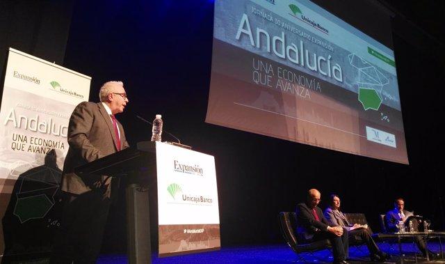 Sánchez Maldonado en foro economía Málaga