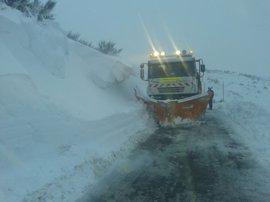 Alerta naranja este miércoles por nieve en todo el interior de Galicia