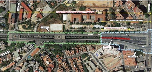 Las obras de cobertura de la Ronda de Dalt de Barcelona