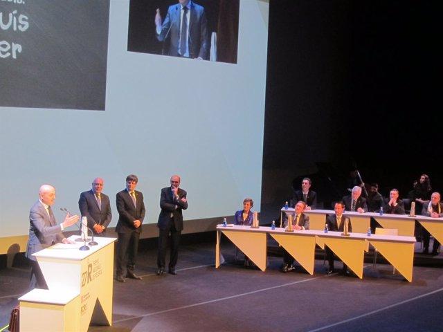 Lluís Torner, J.Baiget, C.Puigdemont y A.Esteve