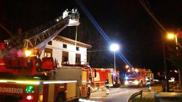 Incendio en la vivienda de Villafrufre