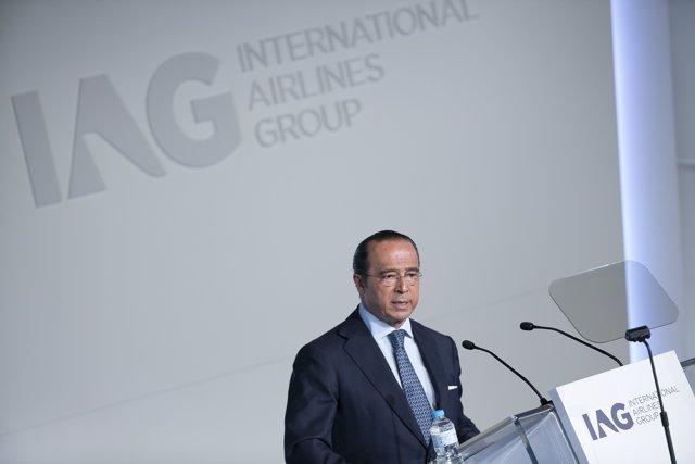 Antonio Vázquez, presidente de IAG, en ja junta de 2015