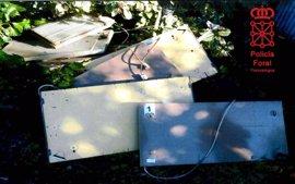 Detenido por robar 200 kilos de cobre y aluminio en una finca en Gazolaz