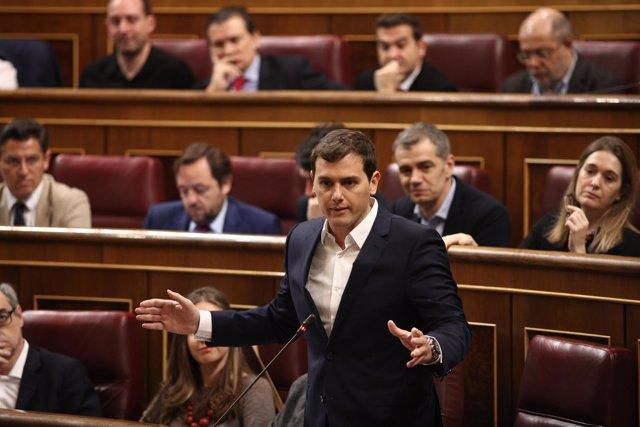 Rivera en la sesión de control al Gobierno en el Congreso