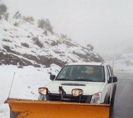 La nieve obliga a usar cadenas en 9 puertos de montaña asturianos