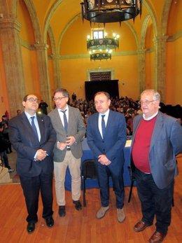 F. Rodríguez, E. Saiz, A. A. Laso y  S. Hernández.