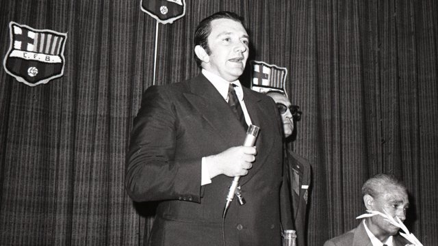 Agustí Montal, expresidente del Barcelona