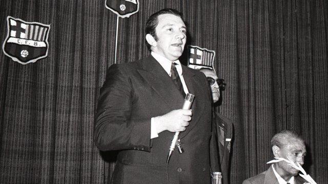 El expresidente del FC Barcelona Agustí Montal
