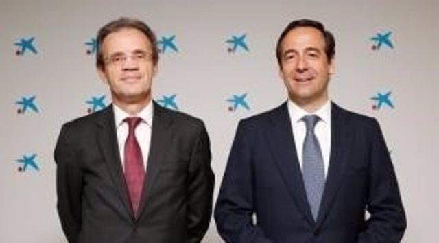 Jordi Gual y Gonzalo Gortázar (Caixabank)